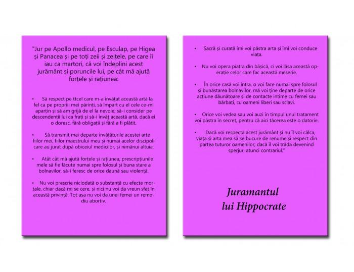 Tablou canvas cu Juramantul lui Hippocrate